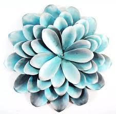 Flower Metal Wall Art Decor Teal Outstanding Suppliers Blue Lotus Uk