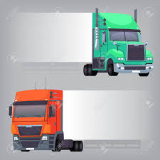 Trucks With Non-dimensional Side Banner That Can Be Used To Create ...