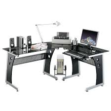 Glass L Shaped Desk Office Depot by Furniture Fascinating Glass L Shaped Desks With Nice Design