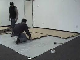 Rosco Adagio Dance Floor by How To Install The Rosco Subfloor Youtube