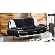 canapé 3 places design noir et blanc marita achat vente canapé