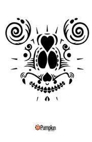 Skeleton Pumpkin Carving Patterns Free by Sugar Skull Pumpkin Pattern Free Pumpkin Patterns Pinterest