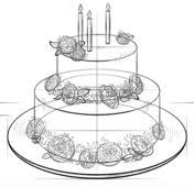 How to draw a Birthday Cake Drawing tutorial