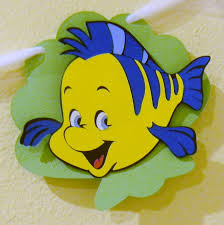 Ariel Flounder Pumpkin Stencil by Crazy About Cricut Cartridge Showcase Dreams Come True Disney