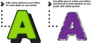 ArtSkills Fonts Drop Shadow Glitter