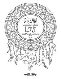 Dreamcatcher Dream Without Fear Love Limits Coloring Page