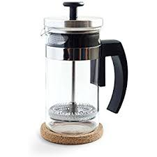 Brillante Small French Press Coffee Maker With 12 Ounce 3 Cup Glass Beaker