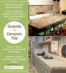 granite vs ceramic tile countertops what is the difference