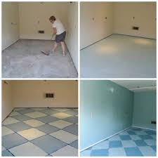 charming painted concrete floor before and after with painting