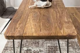 wohnling esszimmertisch bagli aus sheesham massivholz in den
