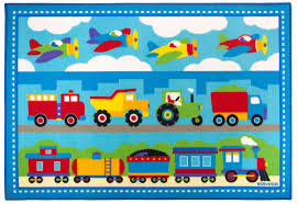 Amazon.com: Wildkin Olive Kids Trains, Planes, Trucks 5x7 Rug ...