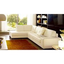 canapé sofa italien canapé d angle en cuir italien divano écru angle gauche achat