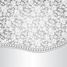 Lace Background And Pearl Necklace
