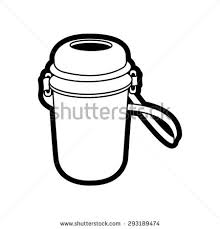 kid water bottle drawing in vector graphic