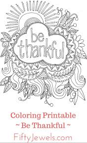 Thankful Coloring Pages Adult Be And Free Book