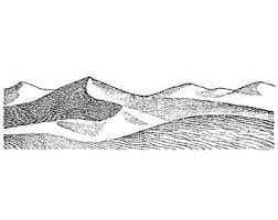 Large Sand Dunes 1526N Beeswax Rubber Stamps Unmounted Cling Mounted Stamp Scenic Landscape Stamping