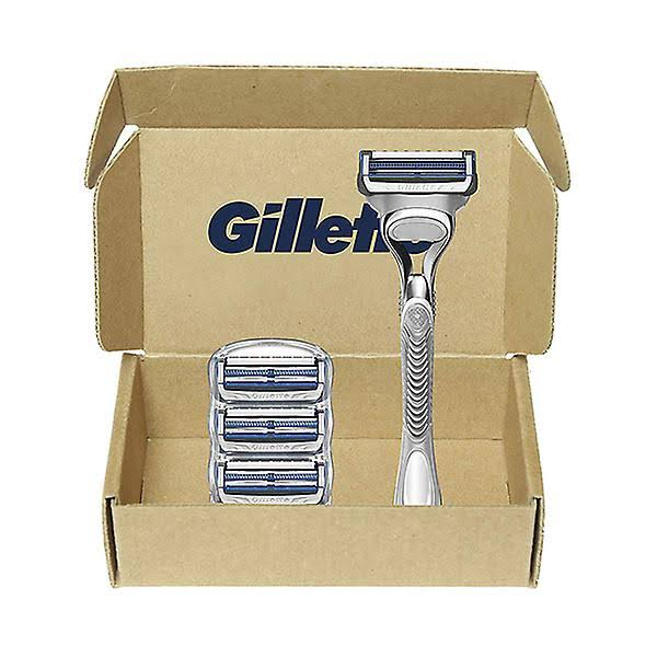 Gillette SkinGuard Sensitive Razor Blades - For Men, 4 Refills