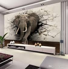Custom 3D Elephant Wall Mural Personalized Giant Photo Wallpaper Interior Decoration Animal World Kids