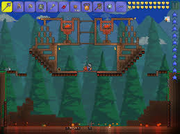 Terraria Halloween Event Arena by Terraria Pumpkin Moon Images Reverse Search