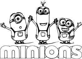 Awesome Free Minions Cartoon Coloring Books For Kids