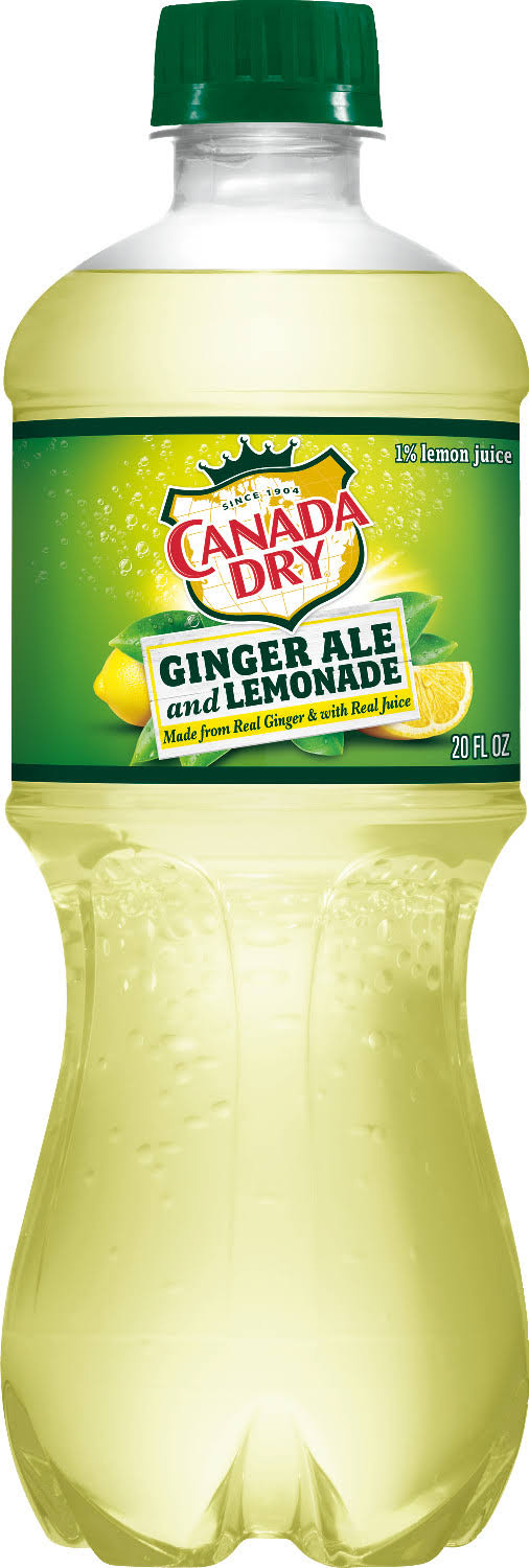 Canada Dry Ginger Ale and Lemonade Drink - 20 fl oz bottle