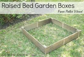 Pallet Raised Bed Garden