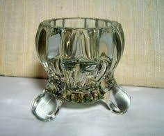 Glass Candleholder Footed Candlestick Heavy By GlimmersinTime 1000 1950s DecorVintage