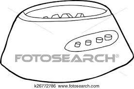 Clip Art Of Blender Motor Base Outline K26772786