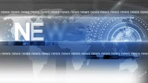 Breaking News On Blue Background Stock Video