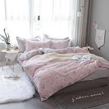 chicken Print Queen Twin Size Pink Bedding Sets Soft Cotton