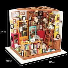 Imagine 3D DIY House Model Kit Bookshop Miniature LED Light