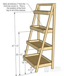 diy ladder shelf shelves tutorials and mountains