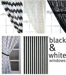 Pink Ruffle Curtains Uk by Black And White Window Curtains U2013 Teawing Co