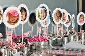 a day with lil mama stuart pink grey striped birthday party