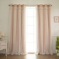 Bed Bath Beyond Blackout Curtain Liner by Aurora Home Mix U0026 Match Blackout With Tulle Lace Sheer 4 Piece