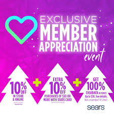 Sears Member Appreciation Event 2018: 10% Off Coupon + 10 ... Sears Printable Coupons 2019 March Escape Room Breckenridge Coupon Code Little Shop Of Oils Macys Coupons In Store Printable Dailynewdeals Lists And Promo Codes For Various Shop Your Way Member Benefits Parts Direct Free Shipping Lamps Plus Minus 33 Westportbigandtallcom Save Money With Baby Online Extra 20 Off 50 On Apparel At Vacuum