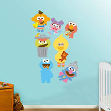 fathead baby wall decor wall decal decorate room with sesame wall decals