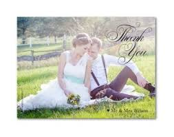 Stunning Photo Wedding Thank You Card Perfect For Rustic Themed Weddings