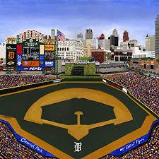ceramic tile coaster detroit baseball detroit