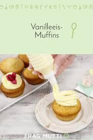 vanilleeis muffins vanille muffins
