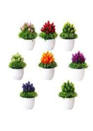 yardwe 8 stücke kunstblumen kunstpflanze im topf künstliche