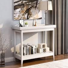 konsolentisch beistelltisch regal lagerung holz flur schreibtisch für wohnzimmer schlafzimmer flur home weiß