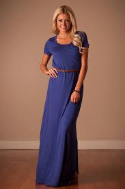 royal blue belt maxi dress affordable modest boutique clothes