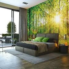 details zu vlies fototapete wald natur bäume landschaft wohnzimmer tapete wandtapete