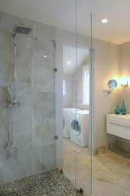 Sliced Pebble Tile Canada by Two Fully Renovated Bathrooms 11014 125 St Edmonton Canada