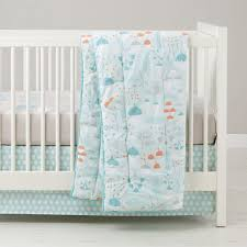 Woodland Crib Bedding Sets by Well Nested Branch U0026 Acorn Baby Bedding The Land Of Nod