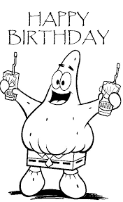 PATRICK FROM SPONGEBOB COLORING PAGE