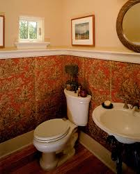 Half Bath Decor Bathroom Traditional With Art Guest