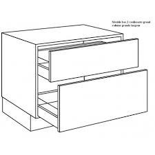 meuble cuisine 90 cm casserolier de cuisine 2 coulissants grand volume largeur 90cm