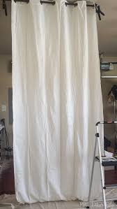 Black And White Striped Curtains by Diy Black U0026 White Striped Curtains